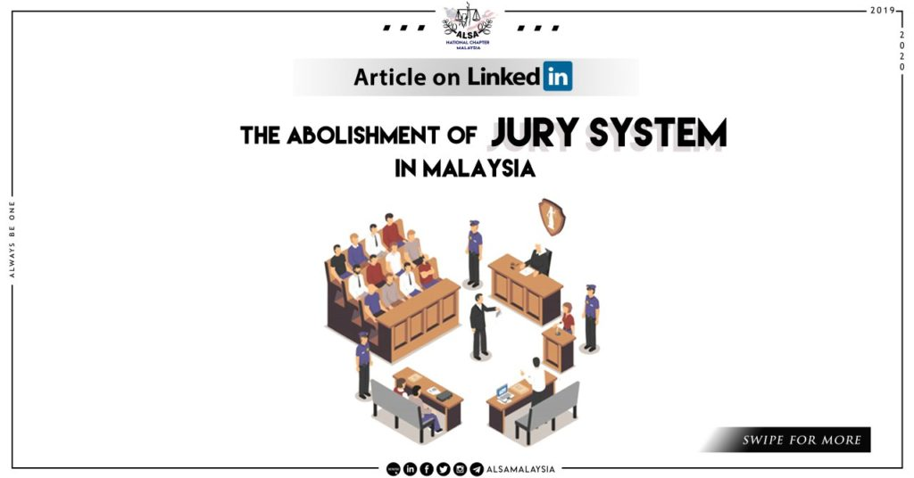 abolishment of jury system header poster