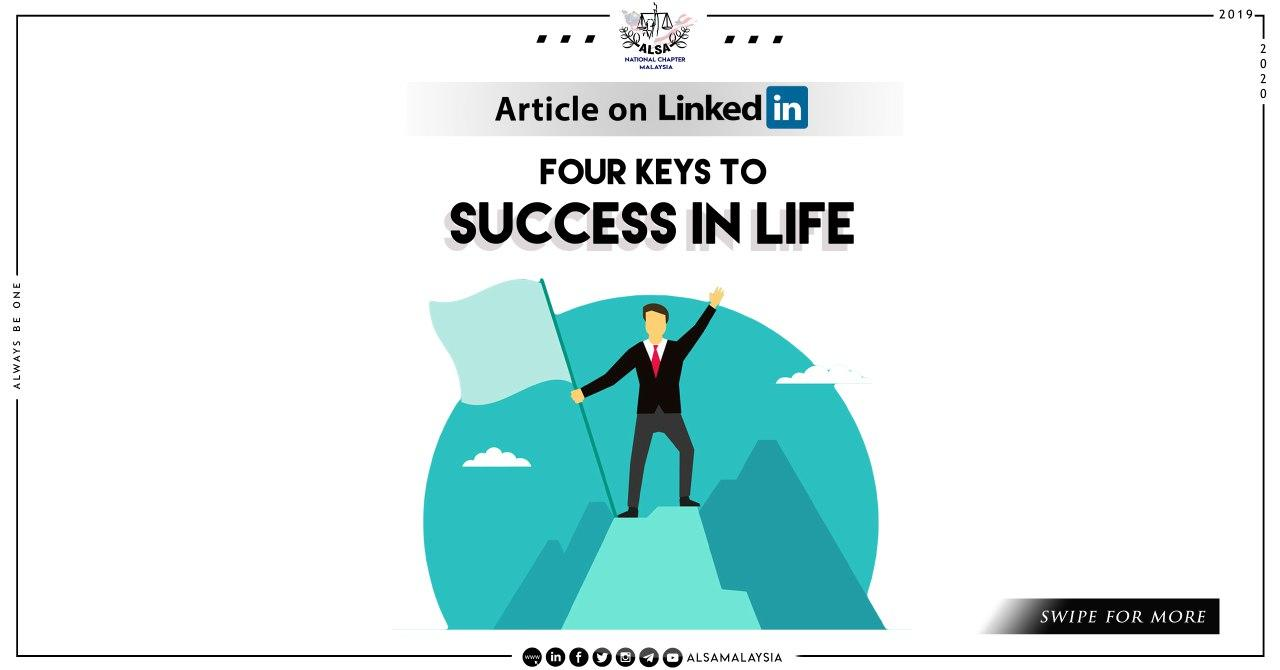 4 keys to success in life